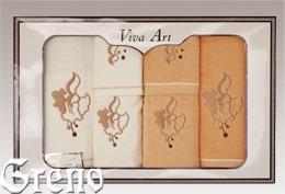 6 Ręczników Haftowanych w Ozdobnym Pudełku Viva Art VI Greno honey, dzwoneczek