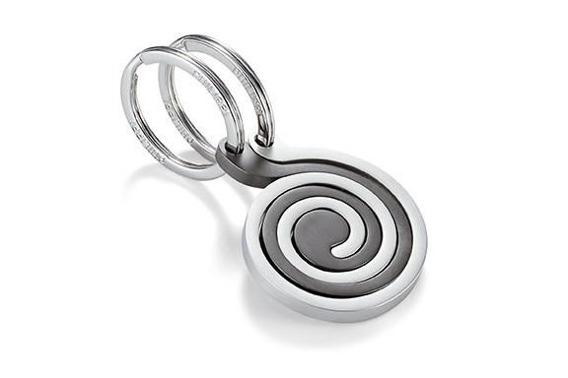 Brelok Snail, 2 szt, srebrny-szary