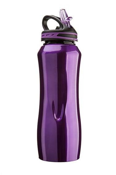 CG - Stalowa butelka WATERVILLE, fioletowa