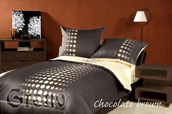 CHOCOLATE BROWN Pościel satynowa XQ Greno