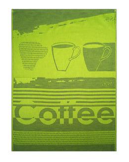 COFFEE ściereczka żakardowa EXCLUSIVE limonkowa GRENO