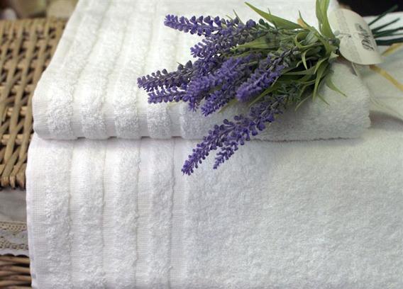 Ekonomik ręcznik bawełniany Andropol - Biały