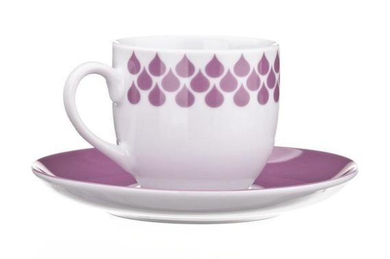 Filiżanka do espresso DROPS United Colors of Benetton, 4 kolory fuksja