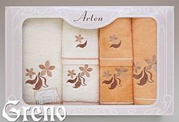 Komplet 6 Ręczników Haftowanych w Ozdobnym Pudełku na Prezent Arten VI Greno pomarańcz, just