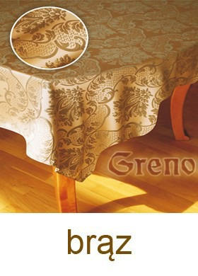Obrus żakardowy ROYAL Greno brąz
