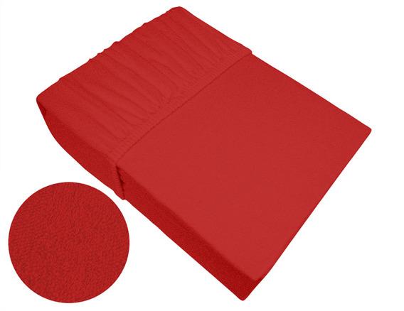 Prześcieradło frotte z gumką Frotex czerwone 030