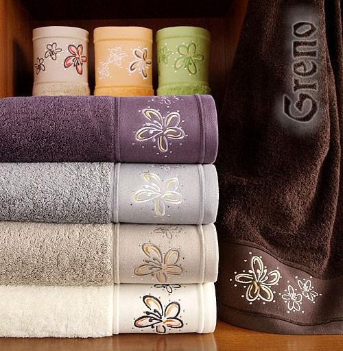 Ręcznik Bawełniany Diament GRENO kremowy