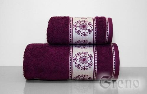 Ręcznik Bawełniany FORGET ME NOT Greno śliwkowy