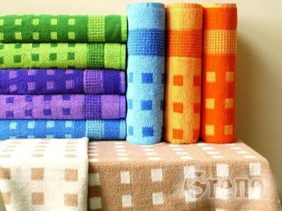 Ręcznik TRENTO Greno stalowy