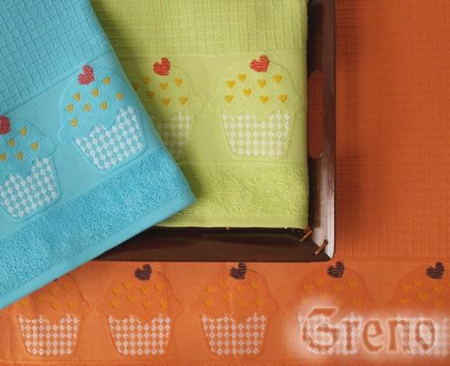 Ręcznik kuchenny CUP CAKE Greno pomarańczowy