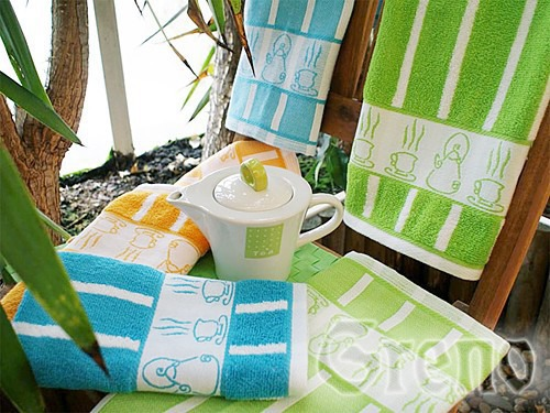Ręcznik kuchenny TEA POT Greno niebieski