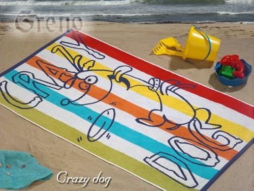Ręcznik plażowy CRAZY DOG Greno