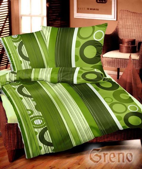 SERDECZNA Pościel satynowa Gold Line Greno, 5 kolorów zielony