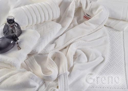 Szlafrok PRESTIGE  Greno biały