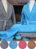 Szlafrok Silk Touch  Greno stalowy